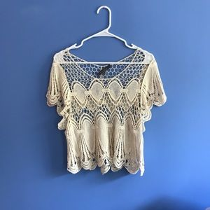 Lace cover up T-shirt